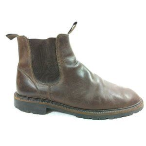 J Crew Chelsea Boots Brown Leather Pull On 12